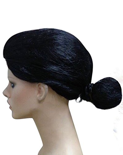 Popeye Olivia - Peluca para mujer, color negro