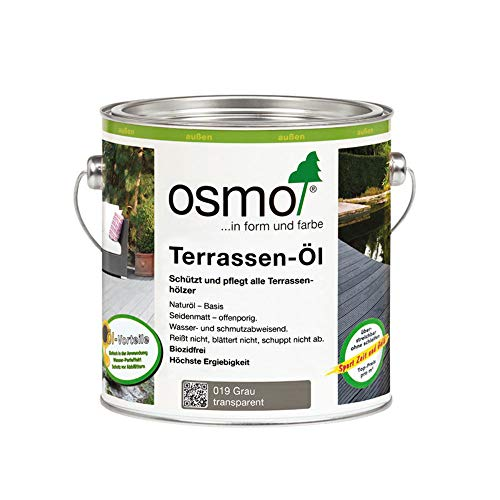 OSMO Terrassen-Öl Grau (019) 2,5 Liter