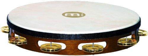 MEINL Percussion マイネル タンバリン Traditional Goat-Skin Wood Tambourine Brass Jingles 1row TAH1B-AB 【国内正規品】
