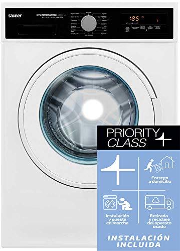 Sauber - Lavadora de carga frontal WM20114-10 kg - 1400 RPM - A+++-10% - Color Blanco - INSTALACIÓN INCLUIDA