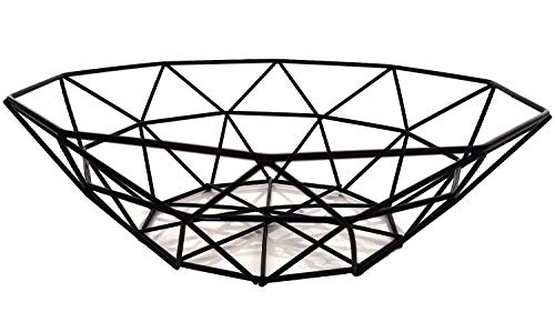 Teetookea - Frutero de alambre de metal, diseño de hierro, frutas y frutas para mostrador de cocina, encimera, decoración del hogar, mesa de centro de mesa decorativa para verduras, pan, aperitivos, popurris, etc.