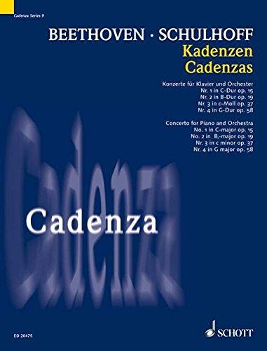 Kadenzen: zu den Konzerten für Klavier und Orchester von Ludwig van Beethoven:. Klavier. (Cadenza, 9, Band 9)