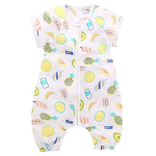 Schläfsack mit Bein Baby KinderSchlafsack Sommer Strampler Musselin-Baumwolle Schlafanzug, XL