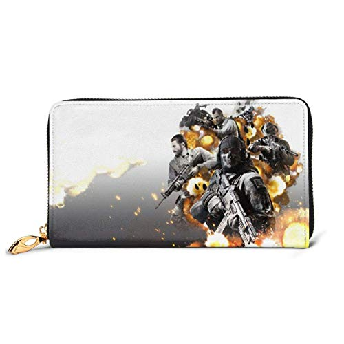 Lawenp Cartera Call Duty Cartera de Cuero Genuino con...