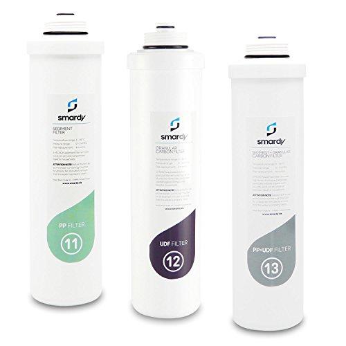 smardy 3x Wasserfilter Ersatzfilterset Nr. 11 | 12 | 13 für Wasserfilteranlage smardy PRO 190