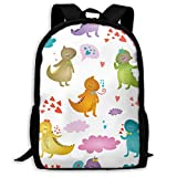 hengshiqi Zaino Backpack, Travel Backpack Laptop Backpack Large Diaper Bag - Iguana Backpack School Backpack for Women & Men