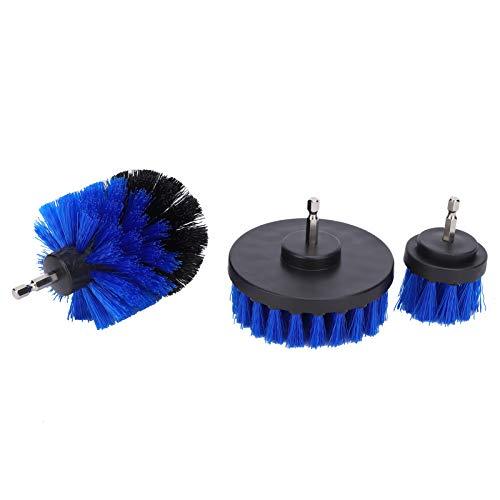 Les-Theresa 3Pcs Drill Brush Scrubber Kit Blue Power Limpieza Accesorios para bañera Ducha 1/4 pulg.