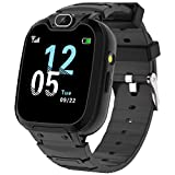 Kids Smart Watch for Boys Girls, Kids Phone Watch with Calls Games Music Player Camera Alarm Clock Calculator SOS Calendar Touch Screen Flashlight Smartwatch for 4-12 Years Old Birthday Gift (Black)