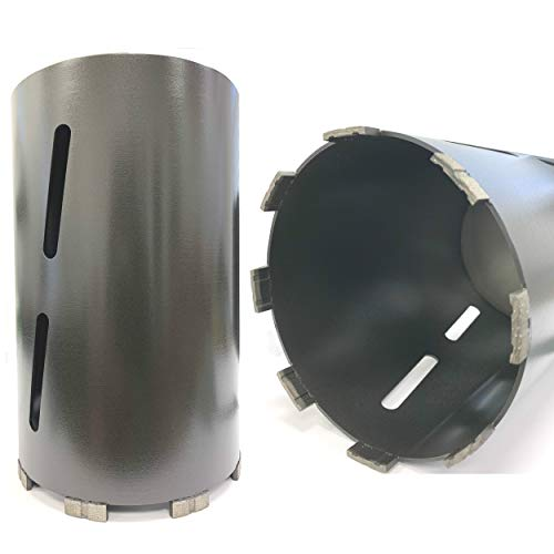 VORTEX DIAMOND WPDB 6 inch Dry Drill Core Bits with Diamond Aligned Segment for Brick Concrete Masonry 5/8'-11 Threaded (6')