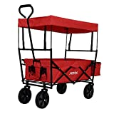 Carro plegable con techo Arebos | Carro de transporte |...