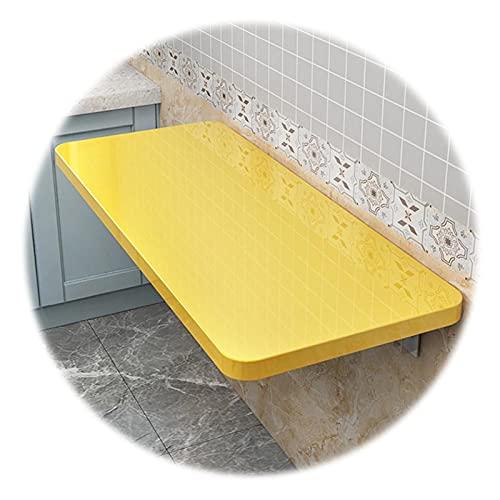 ZWYSL Mesa Plegable Pared Mesa Flotante Ahorro Espacio Usar para Escritorio Computadora, Escritorio Oficina En Casa, Encimera La Cocina, Estante Lavandería (Color : Yellow, Size : 50x30cm)