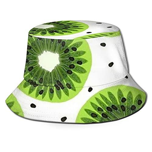 Cappello a benna Sun Cappelli per Uomini Donne Kiwi Frutta Beach Style Golf Cap Pescatore Viaggio Caps Pieghevole Nero