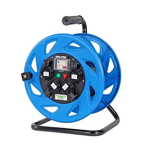 ZBM ZBM kabelrol, voordeel van vier open stopcontacten, verlengkabel met zwengel De, thermo-fotografie en inschakelschakelaar, 30/50 m hoogte zichtbaarheid, kabel 220 3 * 1.5mm²/50M