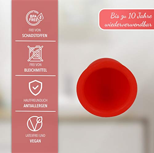 AvaLoona Menstruationstasse Doppelpack aus medizinischem Silikon mit Beutel (groß, Erdbeere, 2 Menstruationskappen) - 6