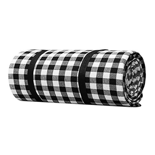 Picnic Blanket Checkered Waterproof Sand-Proof Beach Blanket Plaid Extra Large Camping Mat Portable Picnicware Machine Washable for Outdoor Activities Travel Hiking 150 X 200Cm / 200 X 200Cm (L, Xl)