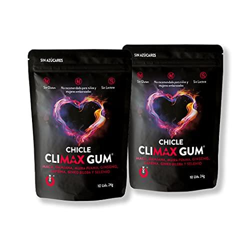 WUG Chicles Funcionales: Climax para Mejorar las Relaciones Sexuales. Pack 2 unidades.