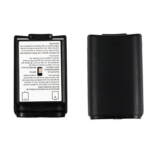 Fantasyworld Kit Escudo del Paquete de batería Universal de la Cubierta de Shell para el Mando inalámbrico Xbox 360 Negro batería de la Cubierta de Shell
