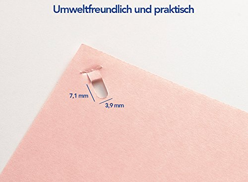 PLUS Japan, Klammerloser Hefter in Blau, Heftleistung 5 Blatt, 1er Pack (1 x 1 Hefter) - 5