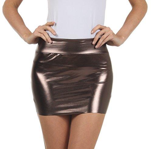 Sakkas 6924 Frauen Shiny Metallic Liquid Mini-Rock - Zinn - Medium