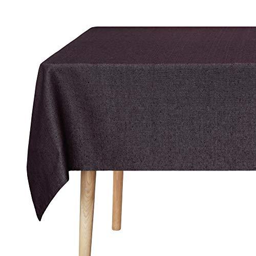 UMI. Essentials Tovaglia Impermeabile per Tavolo Quadrata Cucina Ristorante Moderna 140x300cm Marrone