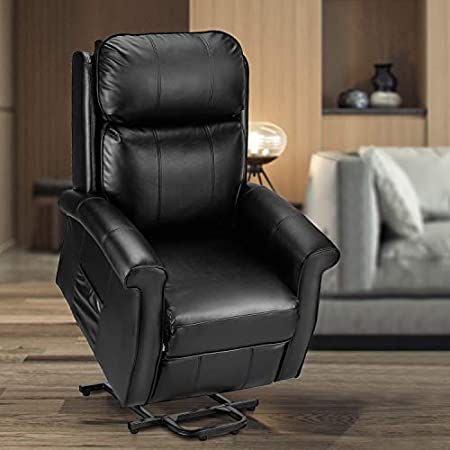 Esright Electric Power Lift Recliner Chair Faux Leather