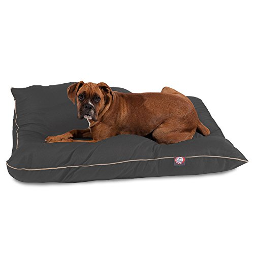 Majestic Pet Gray Super Value Pet Dog Bed, 35 x 46/Large