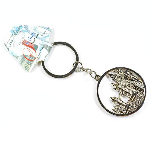 Sterling Product Llavero encantador y elegante | Acero inoxidable puro | Llavero de recuerdo de Londres Landmark