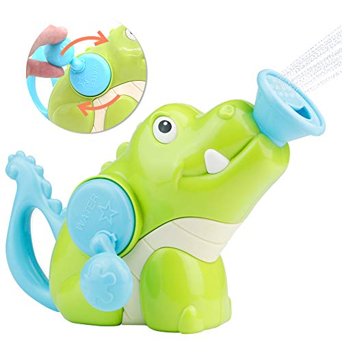 Symiu Badewannenspielzeug Badespielzeug Wasserspielzeug Badewanne Krokodil Spielzeug Sommer-Dusche Kleinkindspielzeug Geburtstags Geschenke für Kinder ab 3 4 5 6 Jahren