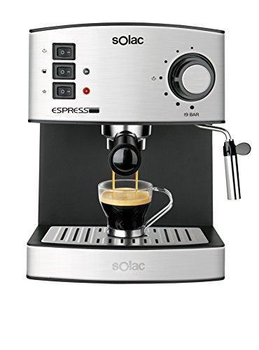 Solac CE4480 Espresso-Cafetera de 19 Bares con vaporizador,