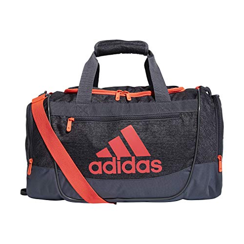adidas Unisex Defender III Small Duffel Bag, Jersey Black/ Onix/ Signal Pink, Small