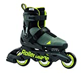 Rollerblade Unisex Jugend MICROBLADE Free 3WD Inline-Skate, ANTHRAZIT/Lime, 230