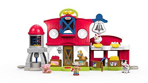 Fisher-Price FKD14 Little People Bauernhof Spielset mit Geräuschen inkl. 5 Spielfiguren und Tieren, ab 12 Monaten