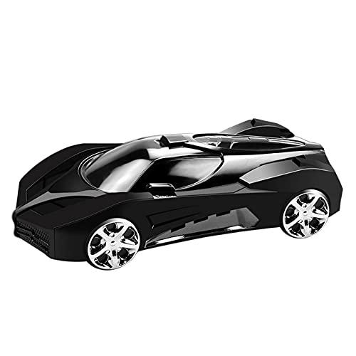 Soporte para teléfono móvil de mesa, soporte plegable en forma de coche, plateado, blanco, negro, soporte para teléfono móvil, soporte de mesa compatible (negro)