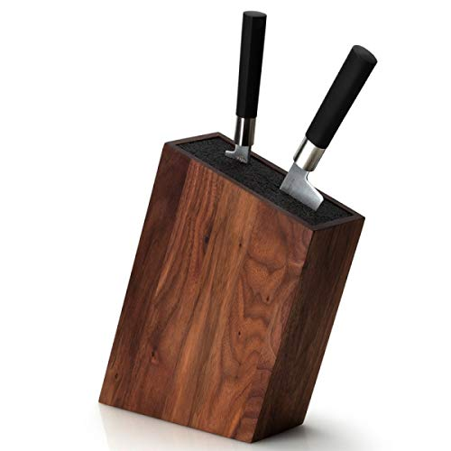 Continenta C4250 Messerblock mit Flexiblem Einsatz Schräg Walnuss, Wood