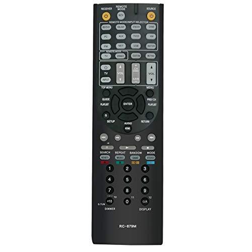 RC-879M Replace Remote Control Applicable for Onkyo AV Receiver TX-NR535 TX-SR333 HT-R393 TXNR535 TXSR333 HTR393 HT-R593 HTR593