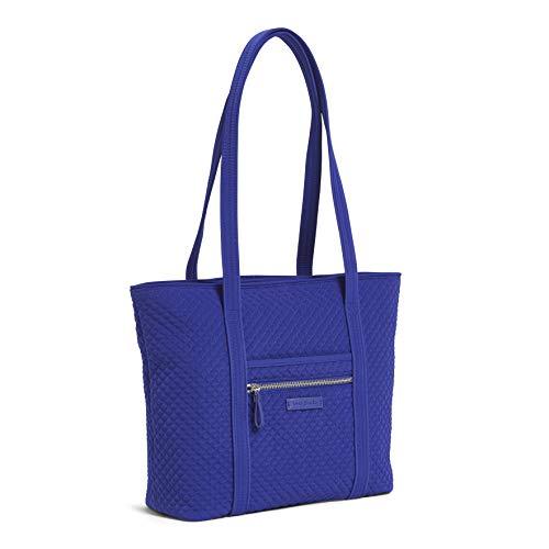 Vera Bradley Women's Microfiber Small Vera Tote Bag, Gage Blue