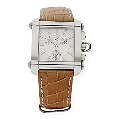 Charriol Men's Chronograph Stainless Steel Watch with Crocodile Strap Cchcxl 754. Hcxlo
