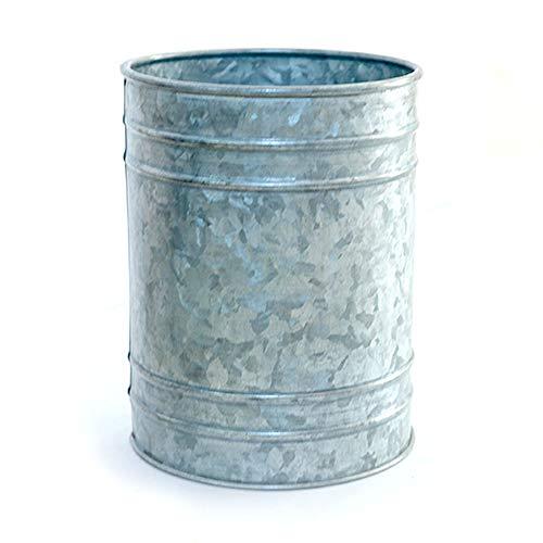 NIRMAN Galvanized metal Utensil Holder Crock Utensil Holder Container for Kitchen Cooking Utensil