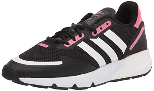 adidas Originals Women's ZX 1K Boost Sneaker, Black/White/Hazy Rose, 9.5