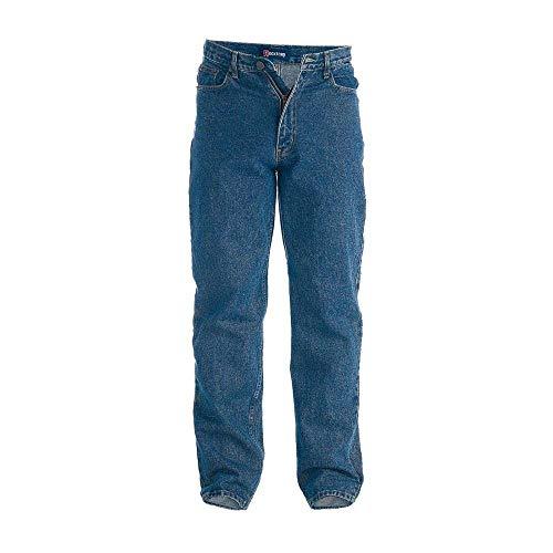 Rockford Herren Komfort Passen Große Größe Jeans Stonewash Blau W60- L30