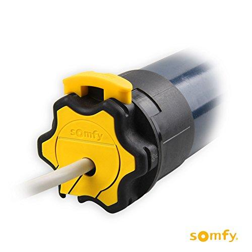Somfy Mechanischer Rohrmotor/Rolladenmotor HiPro LT50 Mariner 40/17 | 40 Nm inkl. drei Hochschiebesicherungen (getestet von DIWARO), Motorlager. Anschlusskabel und SW 60 Adapter/Mitnehmer.