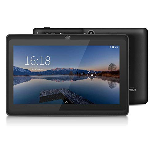 YUNTAB 7 inch Android Tablet - 1.5 Ghz Quad Core CPU, with WiFi, 1GB RAM, 8GB ROM, 1024x600 HD Touch Screen, Pre-Loaded Google Play Store & Games, Dual Camera(Black)