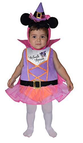 Ciao - Disfraz de bruja con capa impresa, gorro de orejas y gorro para nios, multicolor, 6  12 meses, 11250.6  12