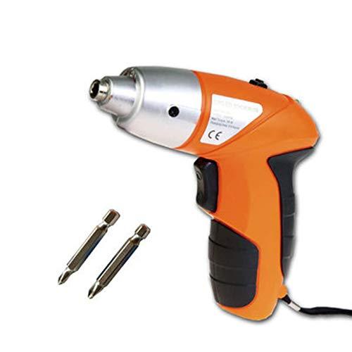 YANG WU Electric Screwdriver, Cordless Electric ScrewdriverRechargeable Screw Gun and Bit Set, Household DIY Battery Indicator