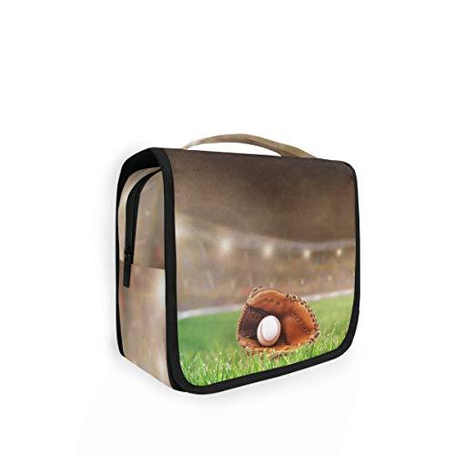 XIXIKO Trousse de toilette pliable à suspendre Motif baseball