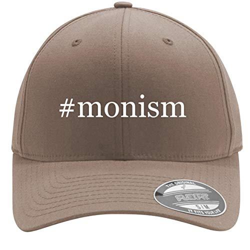 #Monism - Adult Men's Hashtag Flexfit Baseball Hat Cap, Khaki, Large/X-Large
