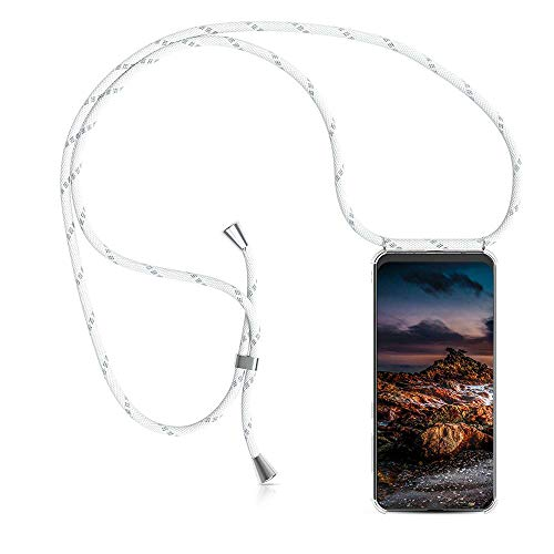 ZHXMALL Unisex Crossbody Handykette para Samsung Galaxy A20e, [Pouch Bag + Funda] Moda Accesorios con 1.5m Ajustable Hombro Correa Cuerda TPU Transparente Sencillo Caso para Joven Mujer y Hombre