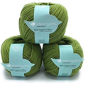 Hilo de algodón para tejer DK, 100 % orgánico, 50 g/m², colores ...