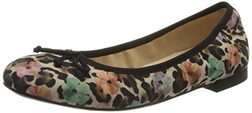 CAPRICE Damen Kendra Geschlossene Ballerinas, Leopard, 39 EU