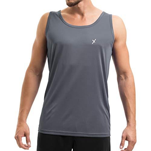 CFLEX Herren Sport Shirt Fitness Tanktop Sportswear Collection - Grau XXL